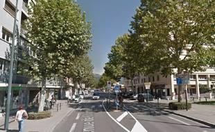 L'avenue de Chambéry, à Annecy