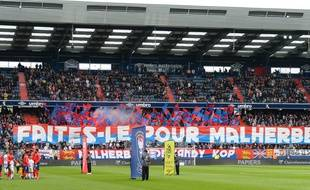 Le stade d'Ornano derrière son équipe de Caen lors du match face à Dijon, le 28 avril 2019.
