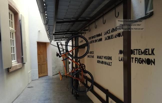 L'hôtel Le Dragon compte notamment un beau garage à vélo à Strasbourg.