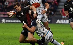 L'arrière du Stade Toulousain Thomas Ramos contre Agen en Top 14, le 30 septembre 2017 au stade Ernest-Wallon.