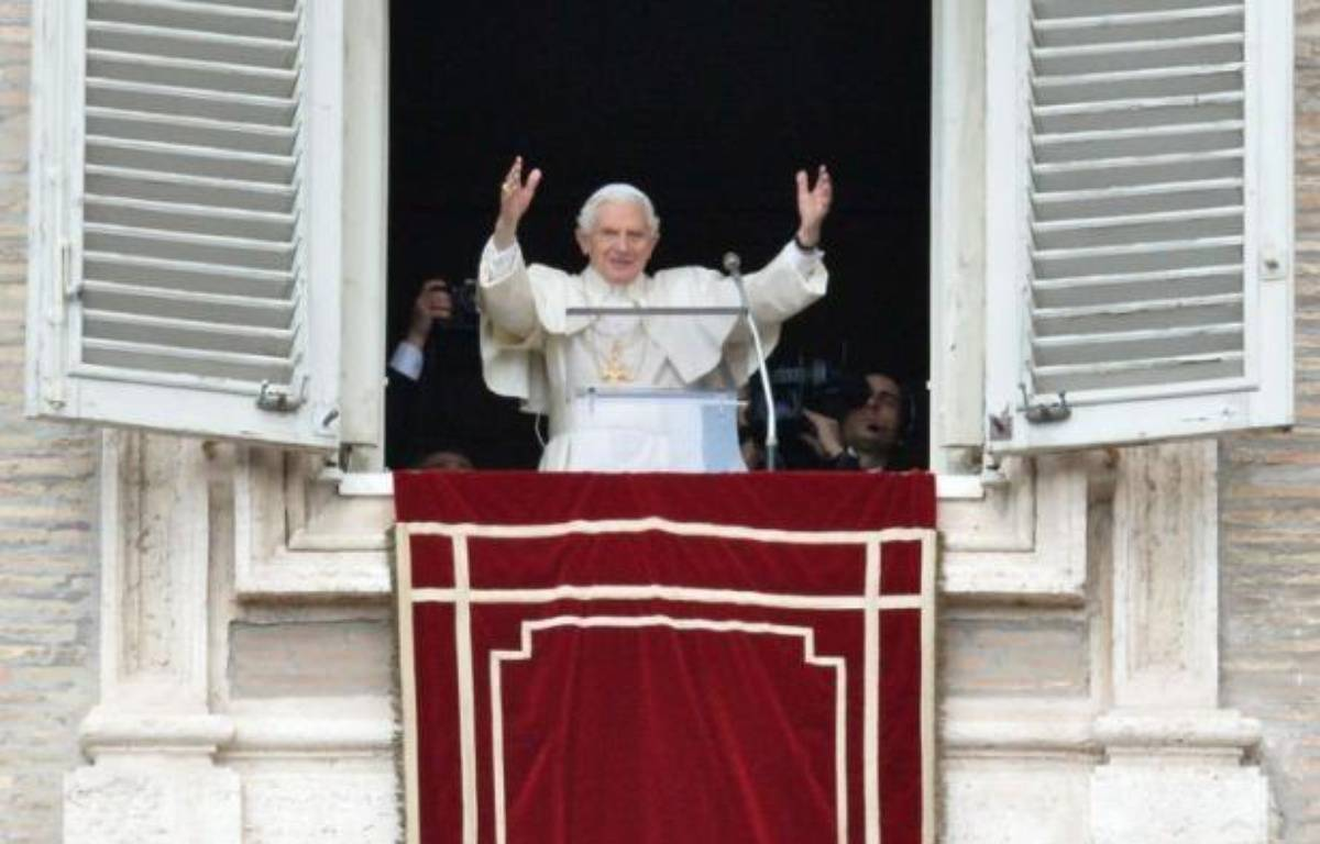"""Après sa démission jeudi, Benoît XVI se fera appeler """"Sa Sainteté Benoît XVI, pape émérite"""" ou """"Sa Sainteté Benoît XVI, pontife romain émérite"""", a annoncé mardi le porte-parole du Saint-Siège, le père Federico Lombardi. – Alberto Pizzoli AFP"""