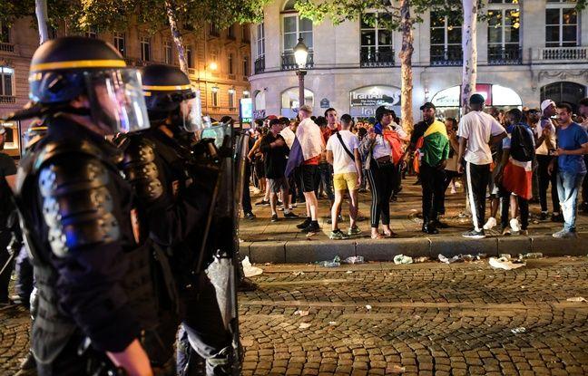 Coupe du monde 2018: 31 personnes toujours en garde à vue à Paris après les incidents en marge de la finale