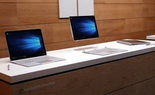 Microsoft a dévoilé son PC transformable Surface Book le 6 octobre 2015, à New York.
