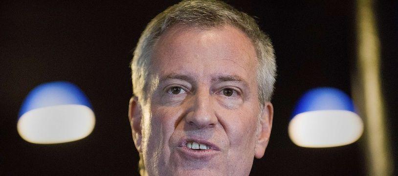 Bill de Blasio. Le maire de la ville de New York aux Etats-Unis.