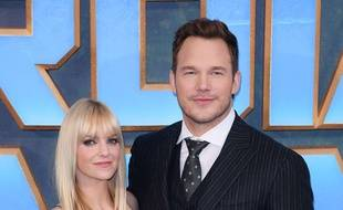 Anna Faris et Chris Pratt à Londres.