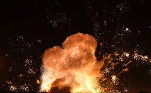 Un dépôt de munitions a pris feu en Ukraine, le 27 septembre 2017.