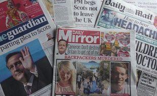 Les journaux britanniques du 16 septembre 2014, à deux jours du référendum sur l'indépendance de l'Ecosse.