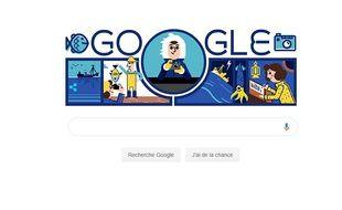 Google a rendu hommage à l'océanographe Anita Conti.