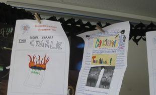 Illustration d'un journal école au collège Flavien de Paris, à l'occasion de la semaine de la presse et des médias à l'école