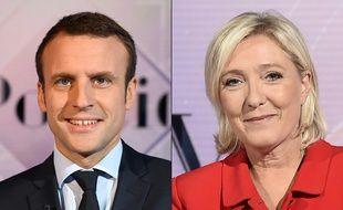 Emmanuel Macron et Marine Le Pen lors de leur campagne.