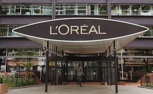 Le siege social de L'Oréal à Clichy, dans les Hauts-de-Seine, en région parisienne.