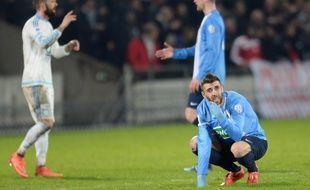 Les joueurs de Trélissac éliminés par l'OM en 8e de finale de Coupe de France au stade Chaban-Delmas de Bordeaux, le 11 février 2016.