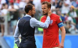 Harry Kane et son sélectionneur Gareth Southgate