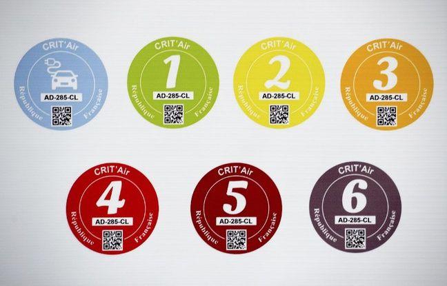La classification des vignettes Crit'Air. Seuls les véhicules ayant une vignette classée de 0 à 3 pourront circuler mercredi dans la métropole lilloise