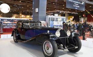 Une Bugatti Royale exposée au salon de la voiture ancienne Rétromobile, le 4 février 2015 à Paris