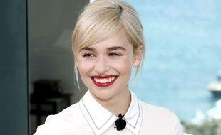Emilia Clarke dans la suite suite Kering, pour le dernier talk Woman in Motion à Cannes le 15 mai 2018.