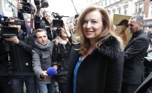 Valérie Trierweiler, en promotion à Londres pour la version anglaise de Merci pour ce moment,  le 25 novembre 2014.