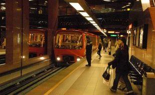 Illustration de la ligne D automatisée du métro lyonnais. 2008.