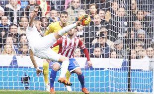Karim Benzema face à Gijon