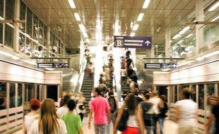 La plaque d'amiante a été mise à jour côté ligne A de la station Jean-Jaurès.
