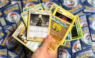 Des cartes de jeu Pokemon (illustration).