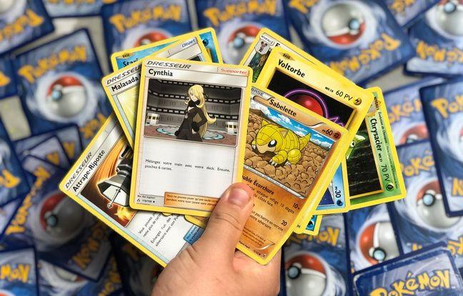 Pokemon playing cards (illustration).