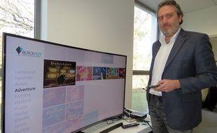 PDG de Blacknut, Olivier Avaro s'est rendu début janvier au CES de Las Vegas pour présenter sa plateforme.