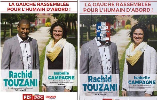 Tarn: Un candidat communiste dépose plainte pour «injure» raciste dans actualitas fr 648x415_affiche-deterioree-retrouvee-carmausin