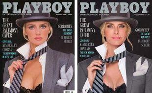 Kimberly Conrad Hefner, Playmate de l'année 1989, est toujours aussi sexy en 2017.