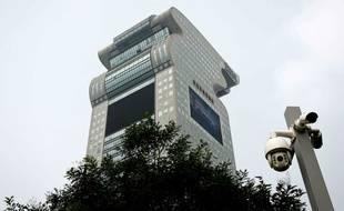 Le gratte-ciel en forme de dragon, construit à Pékin par le milliardaire Guo Wengui en 2006.