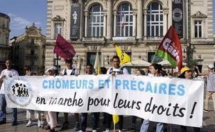 Une manifestation de chômeurs et précaire en juin 2013 à Montpellier.