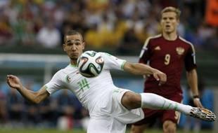 Le milieu de terrain algérien Nabil Bentaleb, le 26 juin 2014 à Curitiba contre ma Russie.