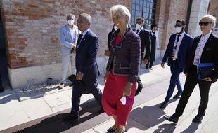 Christine Lagarde arrive au G20 Finances de Venise le 9 juillet 2021