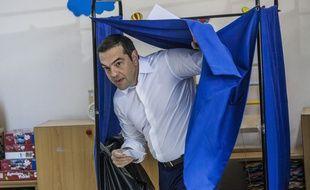 Le Premier ministre Alexis Tsipras a voté dimanche 7 juillet 2019 aux élections législatives à Athènes.