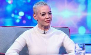 Rose McGowan sur le plateau de l'émission britannique «Peston» , en septembre 2018.