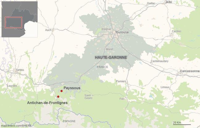 Les villages d'Antichan et de Payssous dans le sud de la Haute-Garonne.