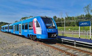 Le train à hydrogène Coradia iLint du constructeur français Alstom.
