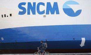 Un ferry de la SNCM à Marseille, le 27 mars 2014