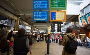 La gare Montparnasse lors des incidents de l'été 2017.