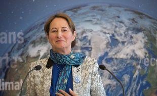 La ministre de l'Ecologie, Ségolène Royal, lors d'une conférence de presse le 3 avril 2015.