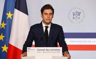 Gabriel Attal, le 10 février 2021 à Paris.