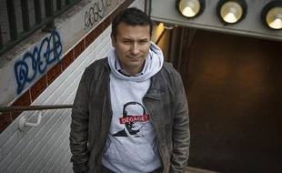 David Van Hemelrick, le 7 janvier 2013, à la veille de son procès à Paris pour organisation d'une manifestation non déclarée.