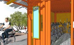Hérault De Vieux Containers Maritimes Transformés En Garages à Vélos