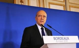 Alain Juppé, lors de son discours du 6 mars 2017 à Bordeaux
