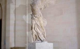 La Victoire de Samothrace au musée du Louvre.