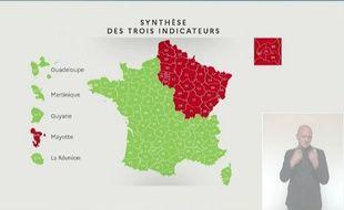 Voici la carte du déconfinement présentée le 7 mai 2020 par Olivier Véran.