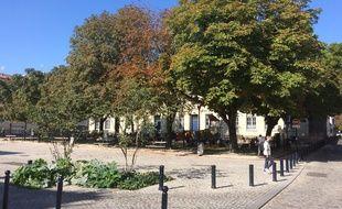 Une des places les plus ombragées de Bordeaux.