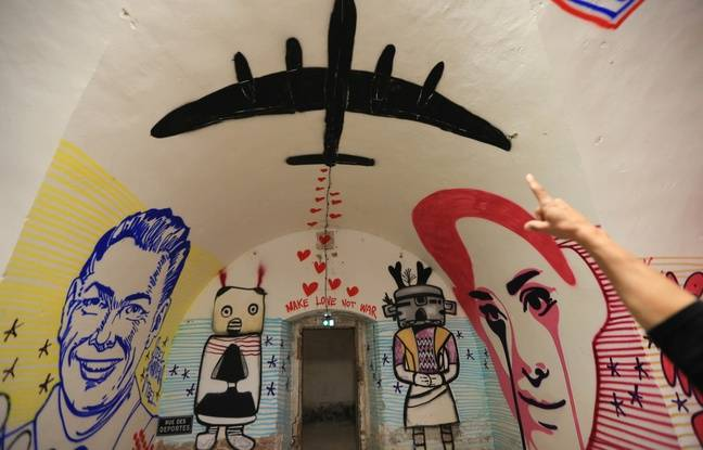 Oeuvre de Pure Evil. Musée des arts urbains et du street art (Mausa) dans la citadelle Vauban à Neuf-Brisach, inscrite au patrimoine mondial de l'Unesco