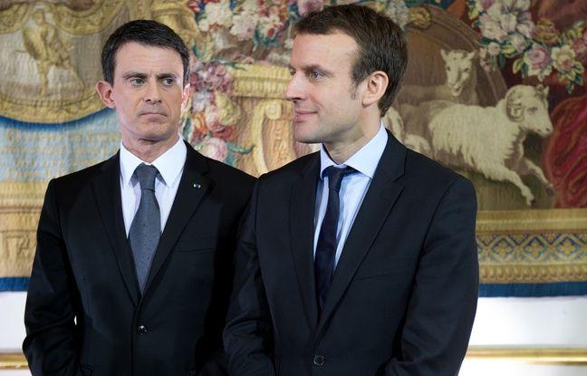 Manuel Valls et Emmanuel Macron à Matignon, le 8 février 2016.