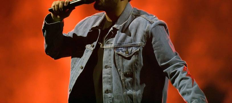 Le chanteur The Weeknd lors d'un concert à Glasgow
